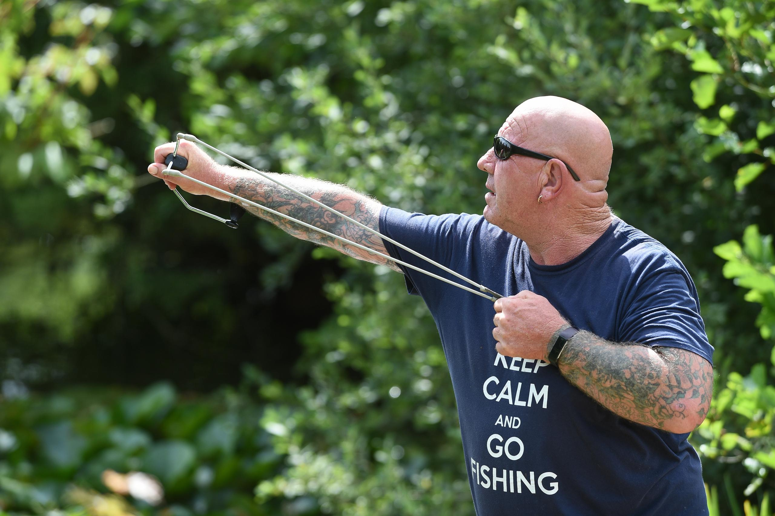Ron 'Rocket' Sant takes part in the Anderson charity fishathon