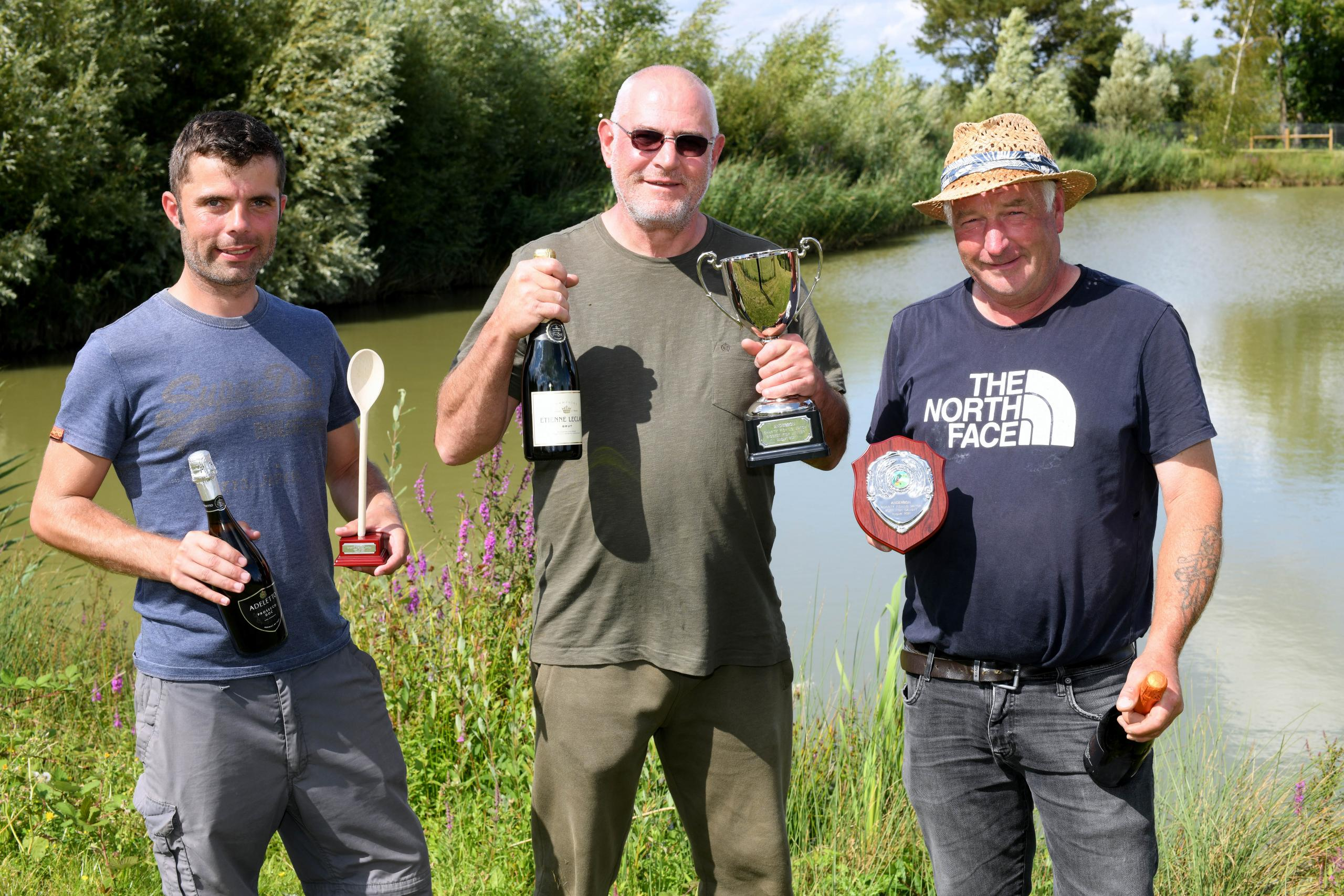 The prize winners at the Anderson charity fishathon