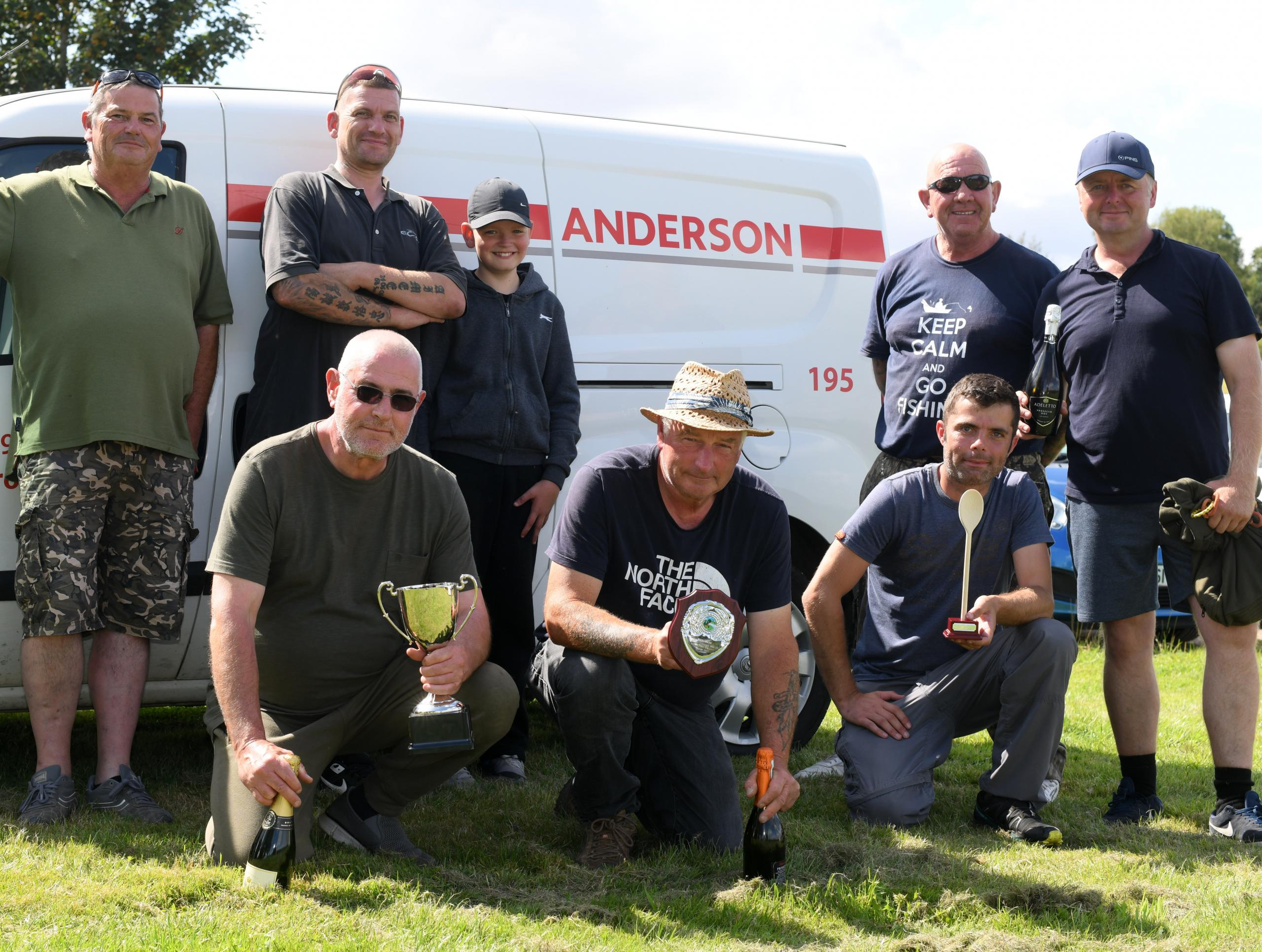 Prize winners at Anderson's fishathon